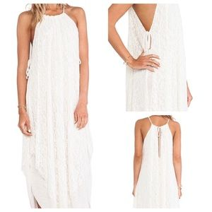 Free People M lace halter dress ties on side NWT